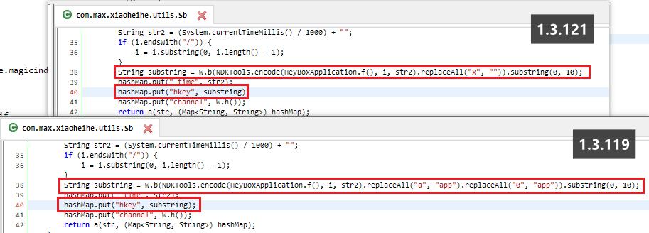 1.3.121和1.3.119计算方式明显不同